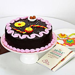 Truffle Cake For Rakhi: Send Rakhi with Cakes