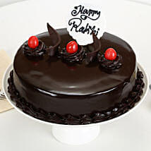Truffle Cake Rakhi Delight: Send Gifts to Alwar
