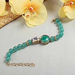 Turquoise Bracelet Rakhi: Rakhi Gifts to Bhubaneshwar