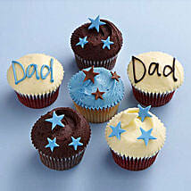 Twinkling Stars Cupcakes for Dad: Send Cup Cakes to Gurgaon
