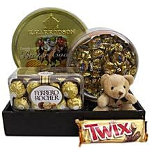Twix Choco Hamper: Send Soft toys to Hyderabad