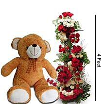 Unconditional Pure Love: Flowers & Teddy Bears for Propose Day