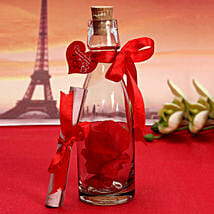 Unique Message In A Bottle: Valentine Personalised Gifts for Husband