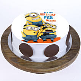Funny Minions Cake: Red Velvet Cakes Mumbai