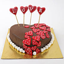 Valentine Red Hearts Cake: Heart Shaped Cakes for Valentine