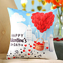 Valentine's Special Printed Cushion: Valentines Day Gifts for Wife