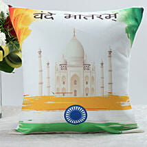 Vande Matram Cushion: Independence Day Gifts