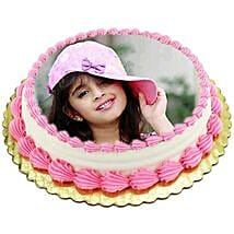Vanilla Photo Cake: Cakes to Ranchi
