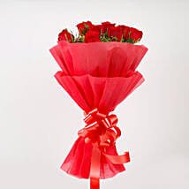 Vivid - Red Roses Bouquet: Mothers Day Flowers to Ahmedabad