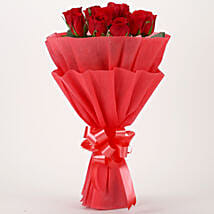 Vivid - Red Roses Bouquet: Send Flowers to Junagadh