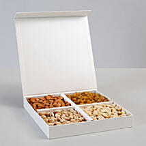 White Box of Assorted Dry Fruits for Diwali: Send Diwali Gifts to Mumbai