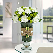 White Carnations Arrangement: Flowers for Fathers Day