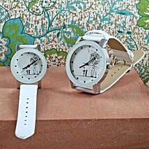 White Couple Watch Set: Women's Watches