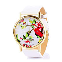 White Floral Watch For Women: Buy Watches