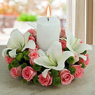 White Lily Arrangement: