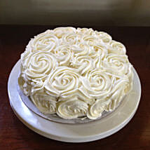 White Rose Cake: Eggless Cakes for Mother's Day