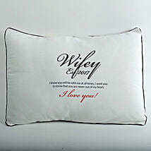 Wifey Love Personalized Cushion: Send Gifts to Neemuch