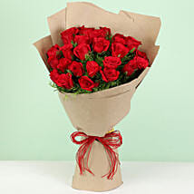 Beautiful 30 Red Roses Bouquet: Valentine Gifts Hubli-Dharwad