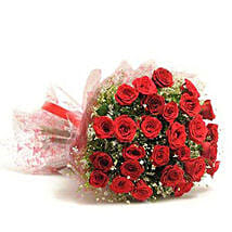 Beautiful 30 Red Roses Bouquet: Flower Delivery in Chhatarpur