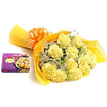 Yellow Carnations: Send Flowers & Sweets to Pune