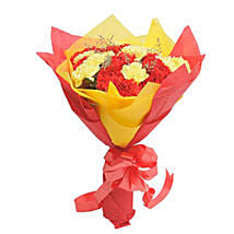 Yellow N Red Carnations: Send Flowers to Aligarh