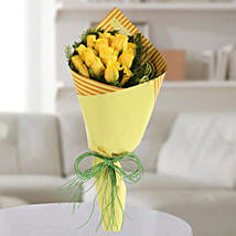 Yellow Roses Bunch: Teachers Day Flowers