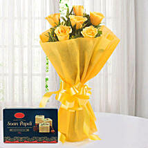 Yellow Roses N Sweets: Send Flowers & Sweets to Pune
