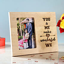 You & Me Engraved Wooden Photo Frame: Send Personalised Photo Frames for Her