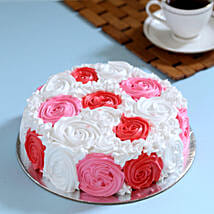 Yummy Colourful Rose Cake: Send Bhai Dooj Gifts to Delhi