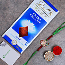 Appealing Bal Ganesha Kids Rakhi And Lindt Chocolate: Rakhi Delivery in Malaysia