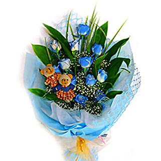 Blue Charming Bouquet: Flowers to Kuala Lumpur