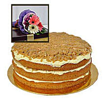 Caramel Butterscotch Cake: Send Birthday Cakes to Malaysia