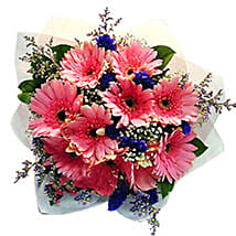 Charming Gerberas Bouquet: Send Flower Bouquets to Malaysia
