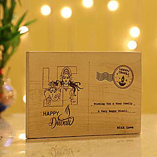 Diwali Wishes Wooden Postcard: Diwali Gifts Malaysia
