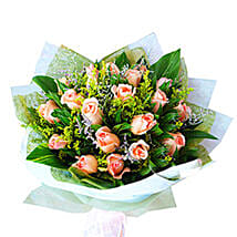 Peach Roses Bouquet: Romantic Gifts to Malaysia