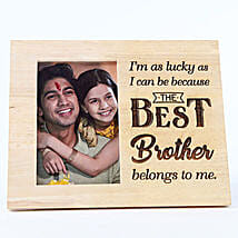 Personalised Wooden Frame My Best Brother: Send Bhai Dooj Gifts to Malaysia