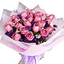 Purple Magic Bouquet: Flower Delivery in Malaysia