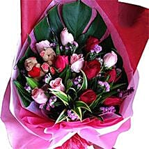 Roses N Teddy Combined: Romantic Gifts to Malaysia