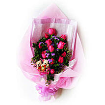 Teddy N Roses Bouquet: Romantic Gifts in Malaysia