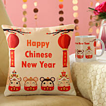 Year Of The Rat Mug And Cushion Combo: CNY Gift Delivery in Malaysia