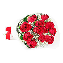 Classic Red Roses: Send Flower Bouquet to Mauritius