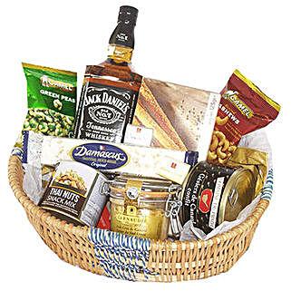 Jack Daniel Crunchy Basket: Gift Basket Delivery in Mauritius