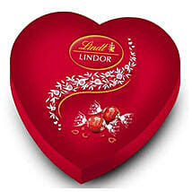 Lindt Lindor Red Heart Box Of Chocolates: Send Anniversary Gifts to Mauritius