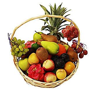 Seasonal Fruit Basket: Gift Basket Delivery in Mauritius