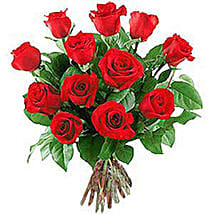 12 Long Stem Roses: Love & Romance Gifts to Nepal