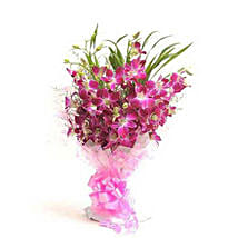 The Purple Orchids Delight: Anniversary Gift Delivery Nepal
