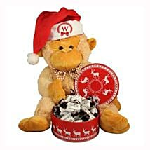 Christmas Treats with Monkey Plush Toy: Corporate Hampers to Netherlands