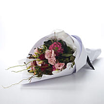 Blushing Love Bouquet: Send Flower Bouquets to New Zealand