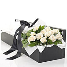 Box Of White Roses: Funeral Flowers to New Zealand