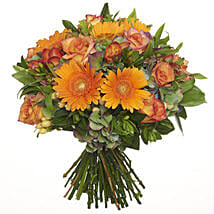 Bright Citrus Bouquet: Valentines Day Roses in NZ